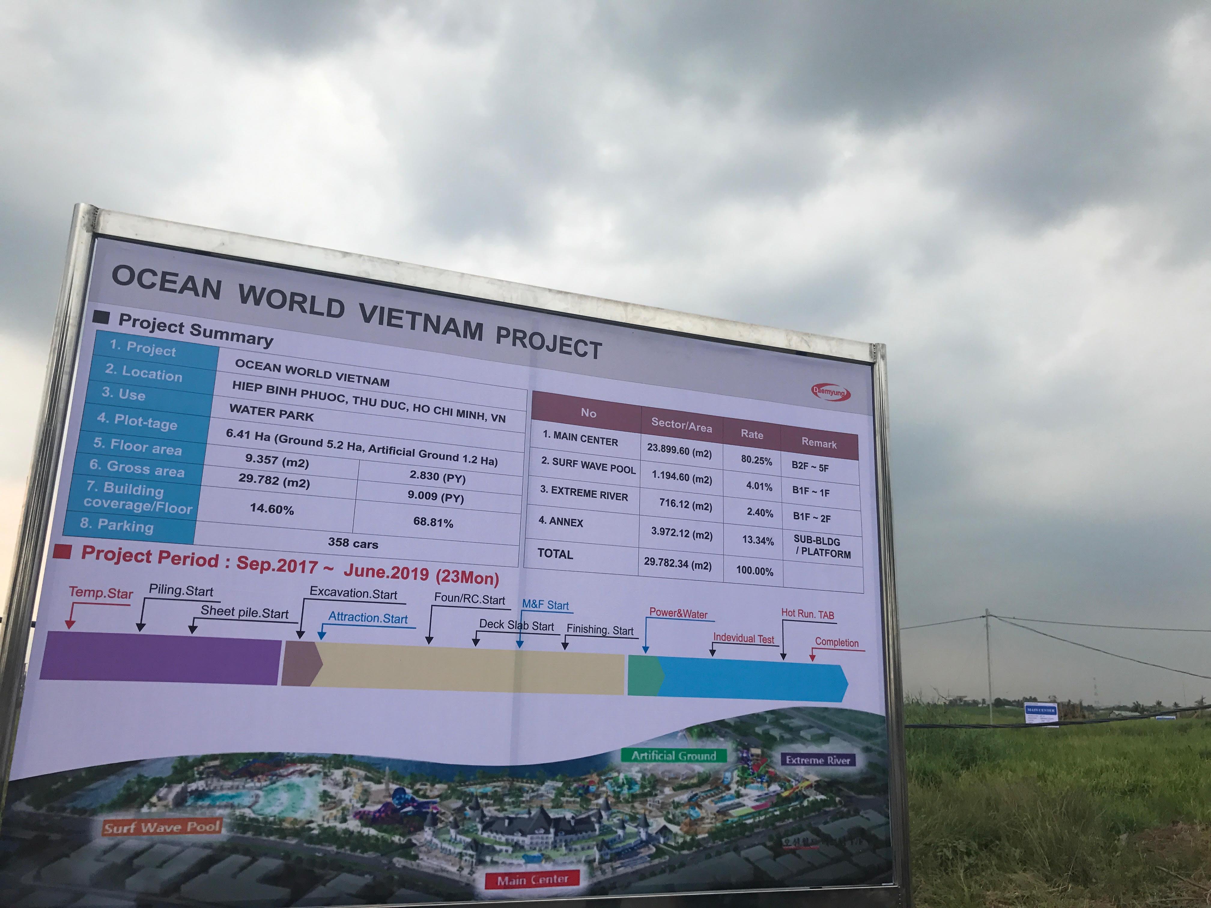 Khởi công công viên nước oean world Sài Gòn tại Khu đô thị Vạn Phúc